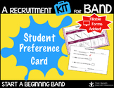 Student Preference Card