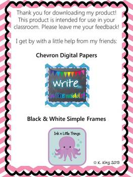Student Information Card and Parent Contact Log - Pink Chevron