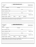 Parent Contact/Student Information Cards