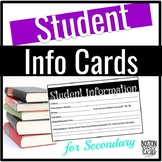 Student Information Cards (Secondary)