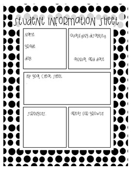 Student Information Cheat Sheet Special Education