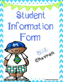 Student Information - Chevron - Blue