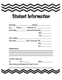 Student Information- Chevron Border
