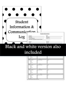 Student Information & Communication Log