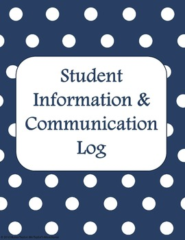 Student Information & Communication Log