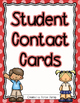 Student Information - Parent Contact Cards - Free Yearly Update