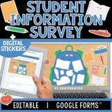 Student Information   Digital Sticker Survey   Editable  