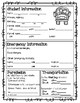 Student Information, Emergency Info, and Permission Sheet