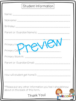 Student Information Form!