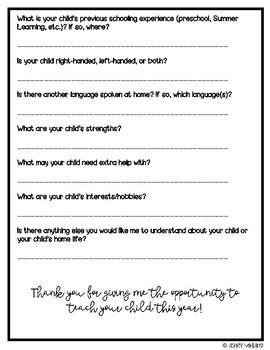 Student Information Form