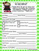Student Information Form - Chevron - Green