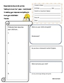 Student Information Form- Quality Tool Style