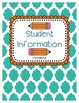 Student Information Form and Binder Cover