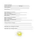 Student Information Forms