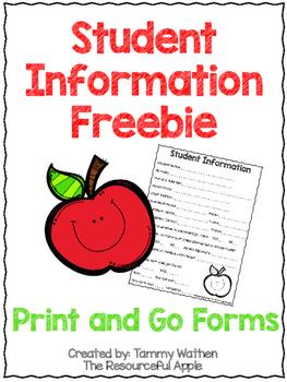 Student Information Freebie