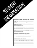 Student Information Handout