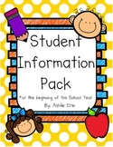 Student Information Pack
