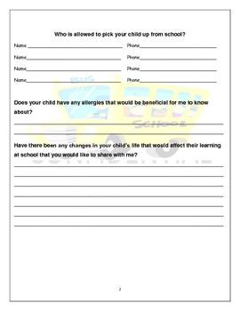 Student Information Packet