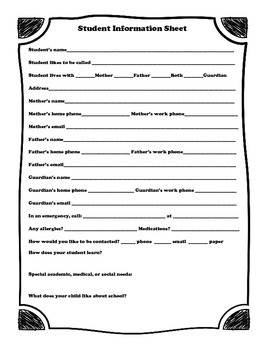 Student Information Papers