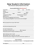Student Information Questionnaire - Completed by Parent(s)