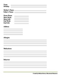 Student Information Record