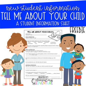 Back to School: Student Information Sheet