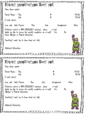 Student Information Sheet 2