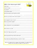 Parent Survey - Student Information Sheet