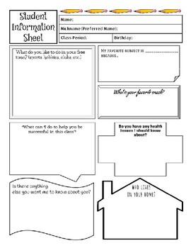 Student Information Sheet-Student Survey