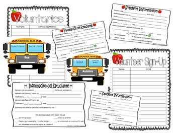 Student Information Sheet- Back to School Night