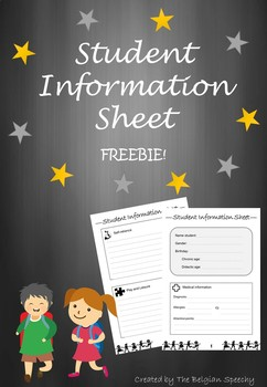 Student Information Sheet - Completely Editable FREEBIE