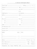 Student Information Sheet and Parent Contact Log