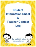 Student Information Sheet & Contact Log