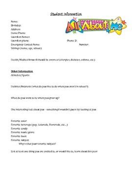 Student Information Sheet. Contact Log
