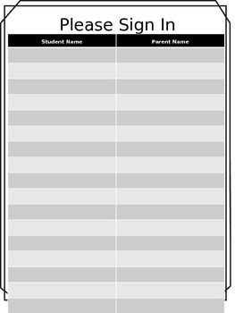 Student Information Sheet- Editable!