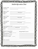Student Information Sheet Eng/Spa