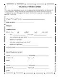 Student Information Sheet English & Spanish
