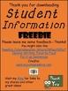 FREE DOWNLOAD : Student Information Sheet (FREEBIE)