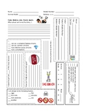Back to School Student Information Sheet - German 1-3