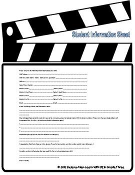 Student Information Sheet-Movie