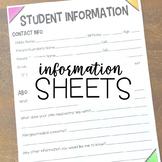 Student Information Sheet- Parent Contact