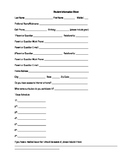 Student Information Sheet and Student Profile