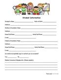 Student Information Sheet - Kindergarten