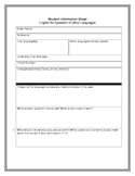 Student Information Sheet for Adult Language Learners