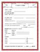 Student Information Sheet for Parent Communication English/Spanish