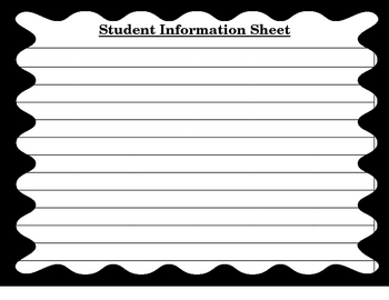 Student Information Sheet for the Special Education Teacher