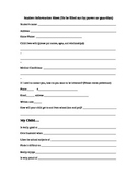 Student Information Sheet (to be completed by parents)