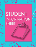 Student Information Sheet with Conduct Log