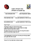 Student Information Sheet (with Spanish translations)