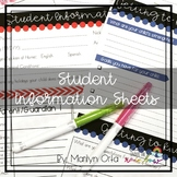 Student Information Sheets (Cactus + More) Spanish & Engli